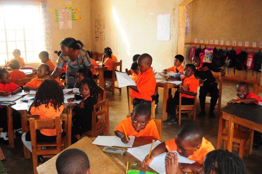 BeeHive Students Focused on Schoolwork
