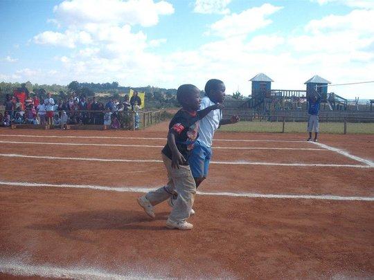 Three legged race at sports day