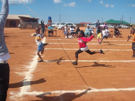 Students race to the finish line