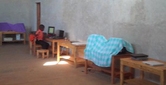 Empty desks wait for new computers