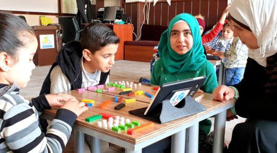 Digital education for Syrian refugee children