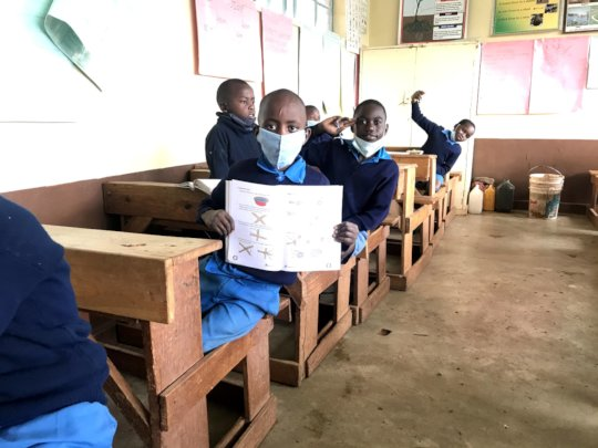 Grade 4 Students in class under the new regulation