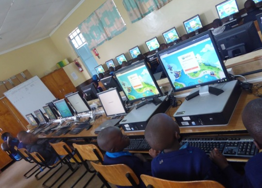 Computer class in one of our Labs