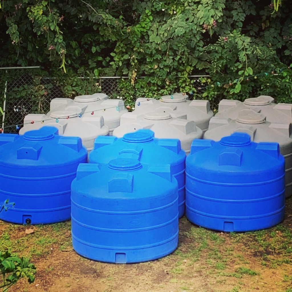 Install 20 water cisterns in rural Puerto Rico