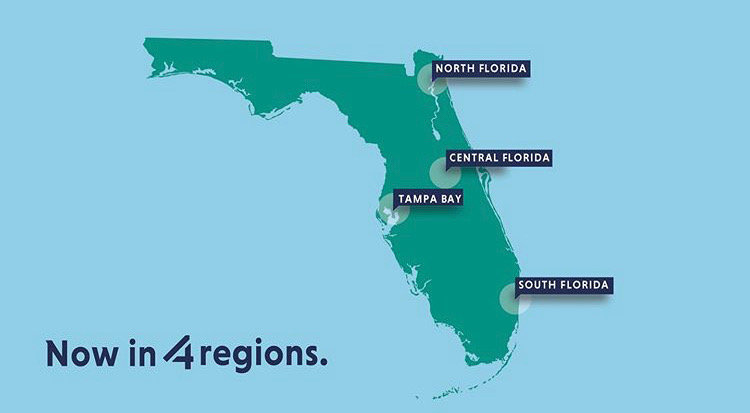 4 Regions across the state of Florida
