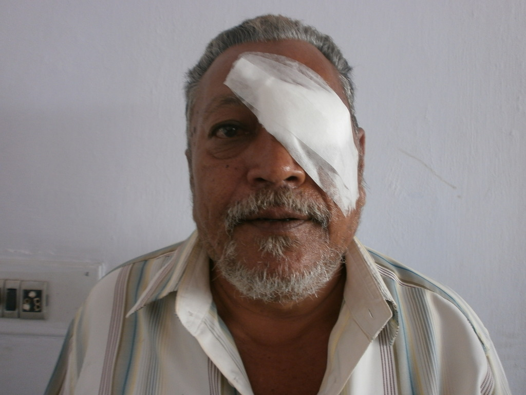 Yusufbhai can see the world clearly after surgery