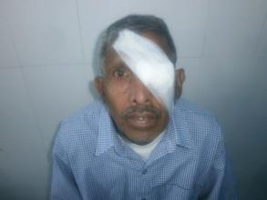 Bhikhu has regained sight through cataract surgery