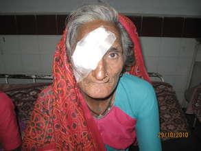 Beneficiary of Eye Surgery