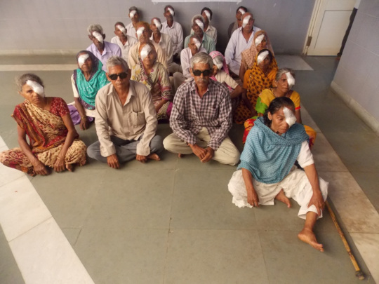 A Group Ready to Depart after Eye Surgeries