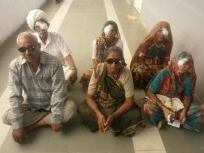 Patients waiting for eye check before discharge