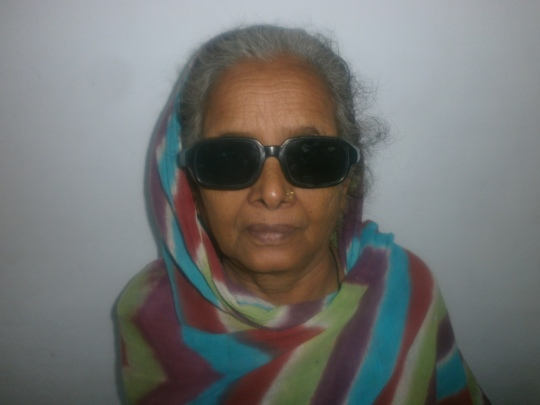 A smiling face after cataract surgery