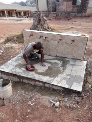 Finalize work at water station (in total 10 taps)