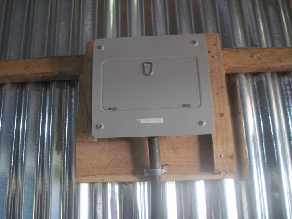 Solar panel electric box
