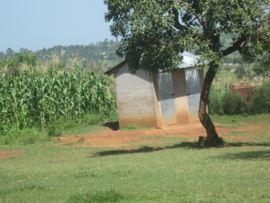 Latrine on school lot