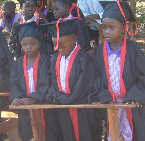 Children graduating from class 1 to pre-unit