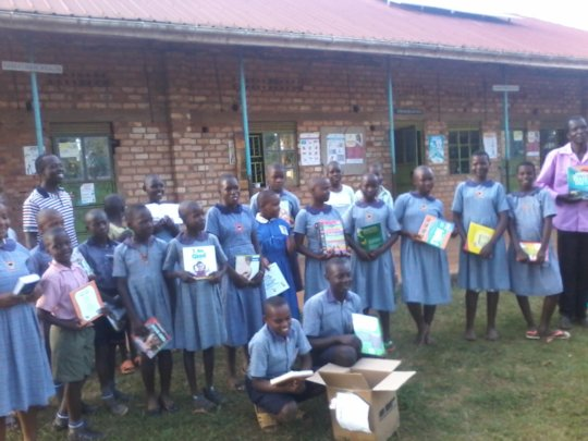 Books Arriving for Sserinya Primary School