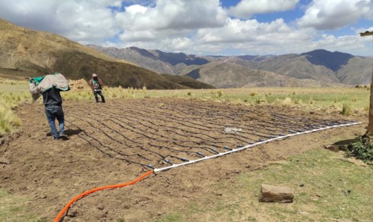 Finalizing the installed irrigation system