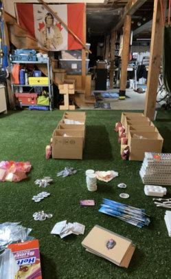 Assembling kits.