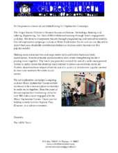 VICM Donor Letter, Art Exploration Report 1 (PDF)