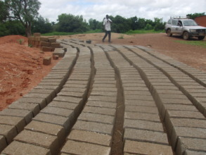 Bricks made and ready for use...