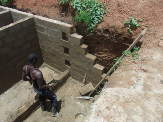 Latrine for Primary School Being Constructed