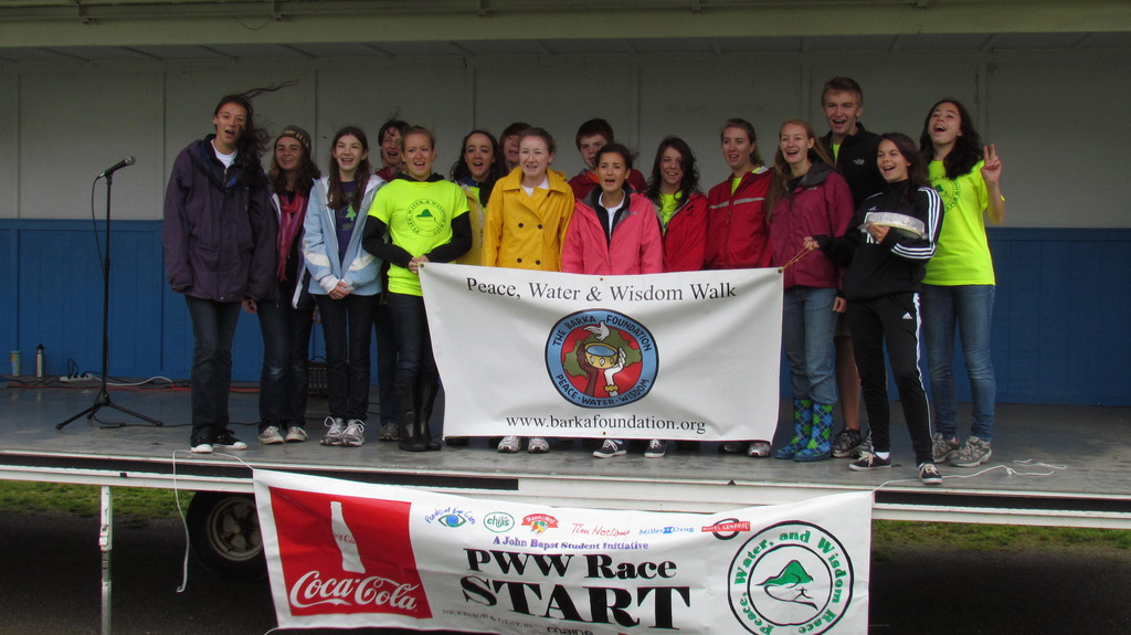 Student-organizers of the 5K Event