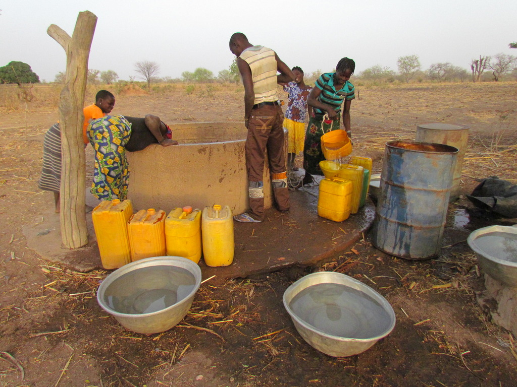 How villagers of Tantiaka used to collect water