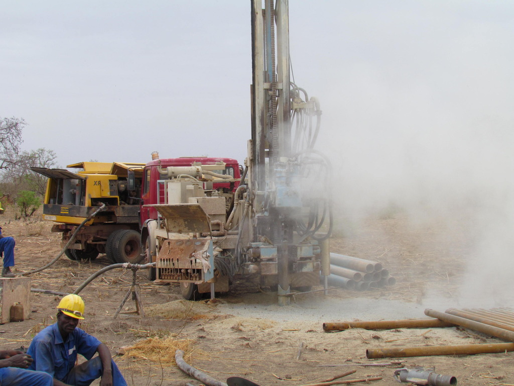 The new borehole is drilled