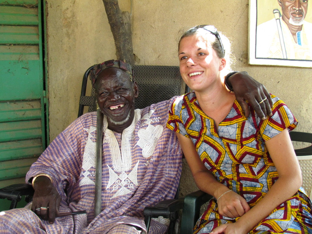 Pauline Ducreux with the local king of 44 Villages