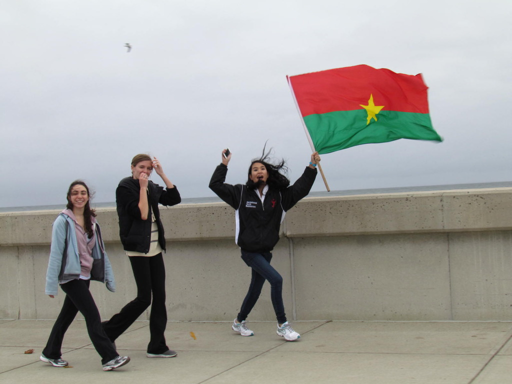 Students from Marblehead HS Carry the Burkina Flag