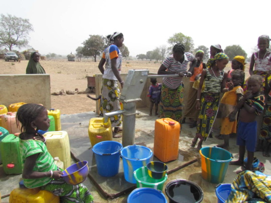 The well we drilled together serving the village