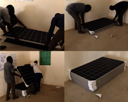 Solar panels - unloaded and awaiting installation