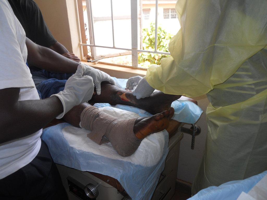 Impromptu wound care inservice