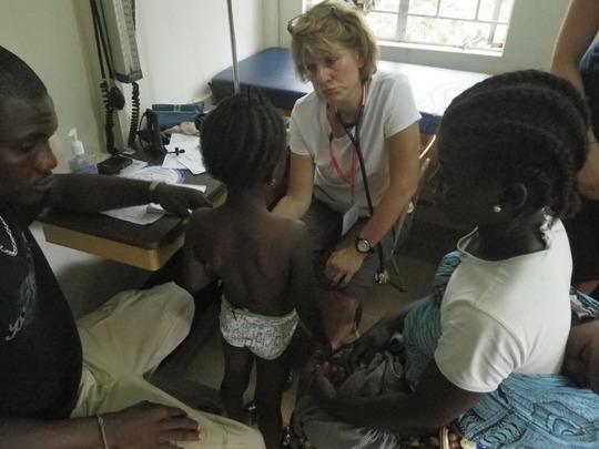 Nurse Practioner examining a patient