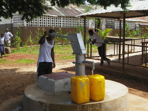 Newly constructed well at clinic