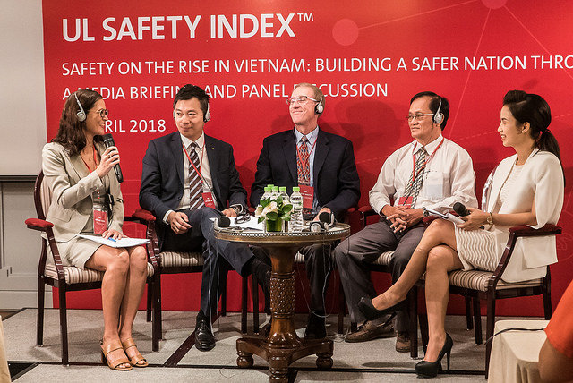 CEO addresses media as part of a road safety panel