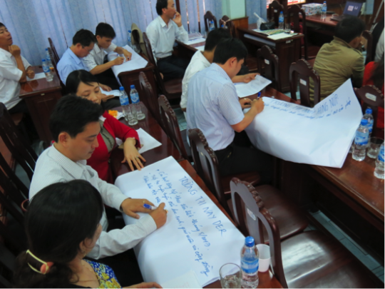 Attendees participate in a midterm review session.