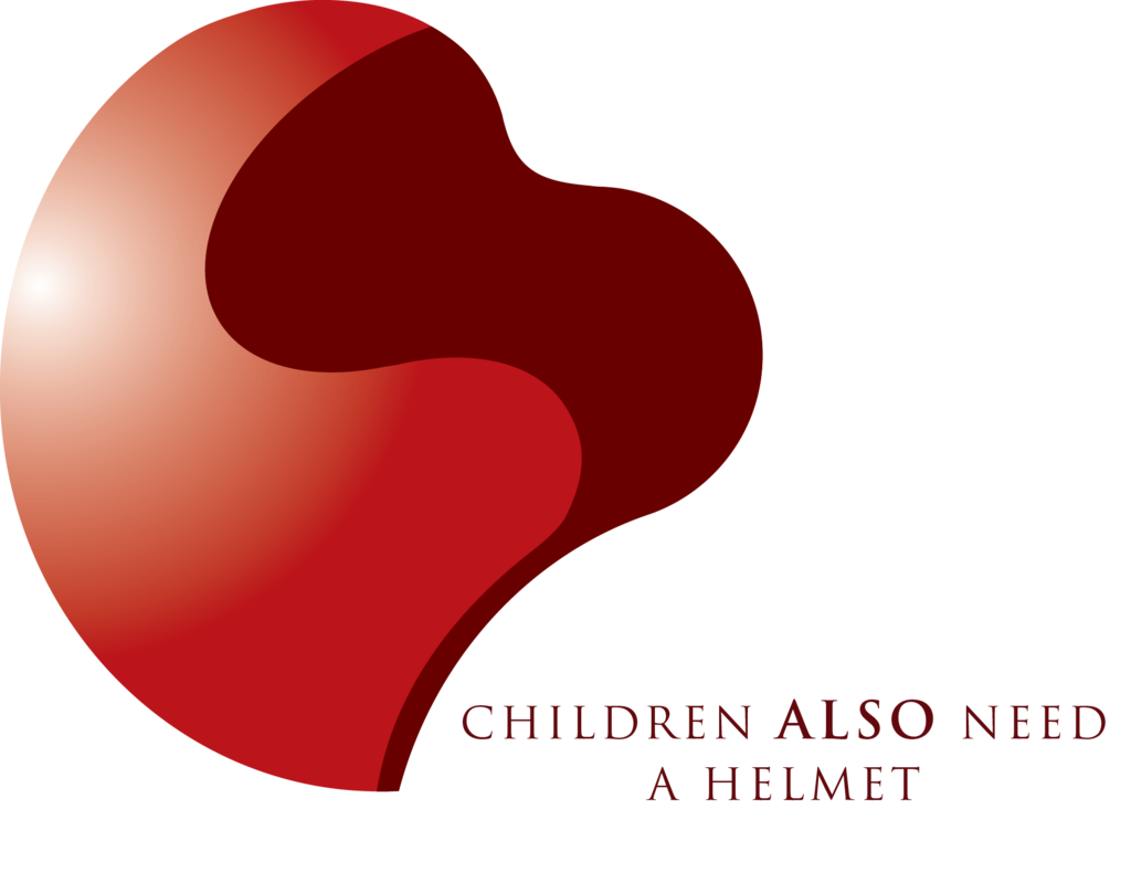 Child helmet campaign helmet/heart logo