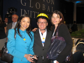 With Michelle Yeoh and Julia Ormond