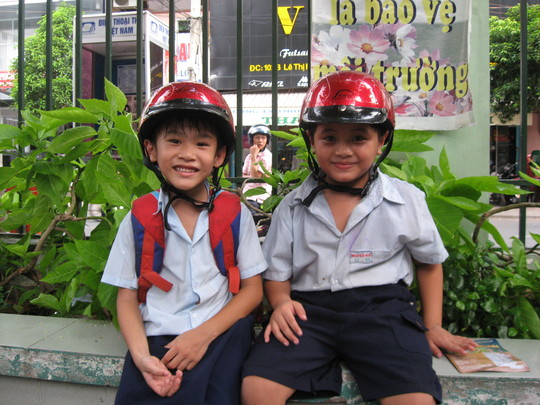 Students during a school visit