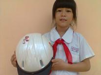 Thao with her helmet