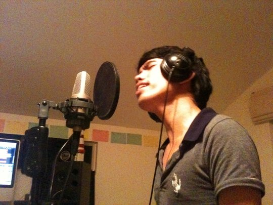 P2 recording his song