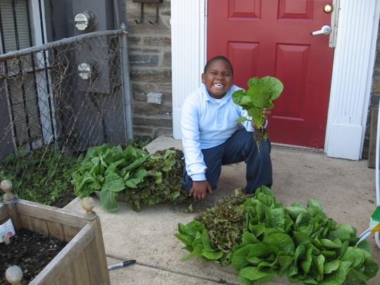 Connor in the Garden