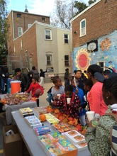 Our students selecting books at our Fall Festival!