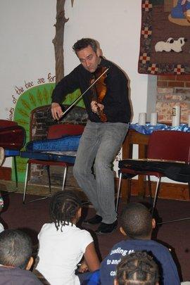 Our kids enjoying Glenn's performance