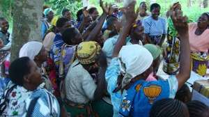 Women in Kilifi,singing to express their joy