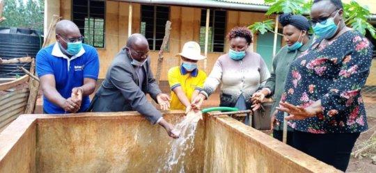 Water flows at Canon Herbert Ikuura Primary School