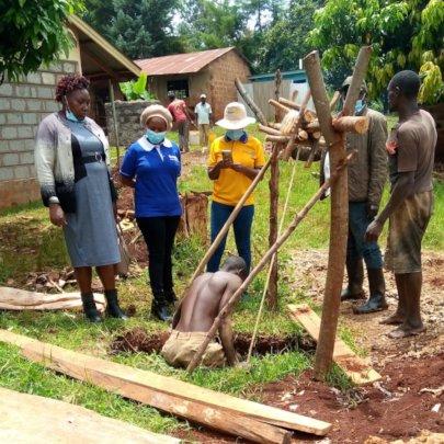 Digging at Nyagari Primary School