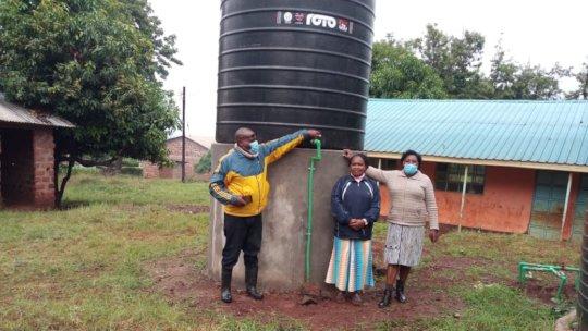Water tank at Kurungu Primary School