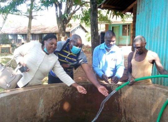 Water flowing at Magaca Primary School